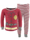 Red Fireman Cotton Pajamas for Baby and Toddler Boys