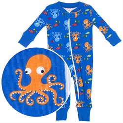 Image of Agabang Octopus Organic Cotton Sleeper for Baby Boys