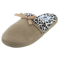 Image of Beverly Hills Polo Club Tan Leopard Slip On Slippers