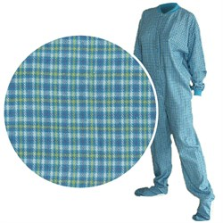 Image of Big Feet PJs Turquoise Flannel Pajamas for Men and Women