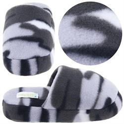Image of Gray Camo Slip On Slippers for Toddler Boys