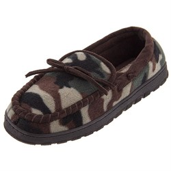 Image of Camouflage Fleece Moccasion Slippers for Men