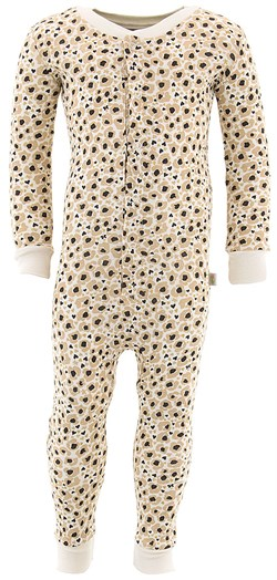 Image of Leopard Cotton One-Piece Pajamas for Toddler Girls