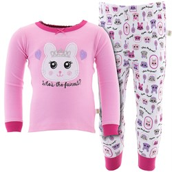 Image of Dark Pink Who is the Fairest Cotton Pajamas for Toddler Girls