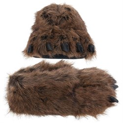 Image of Grizzly Bear Paw Slippers for Women and Men