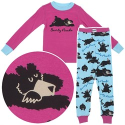 Image of Lazy One Bearly Awake Cotton Pajamas for Toddlers and Girls