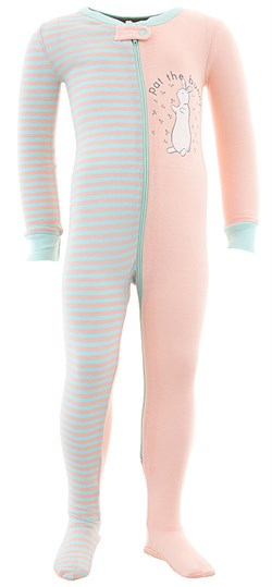 Image of Pat The Bunny Cotton Footed Pajamas for Infant Toddler Girls