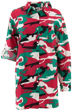 Image of Allison Rhea Red Green Camo Cotton Night Shirt