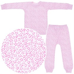 Image of Sweet Potatoes Tiny Pink Floral Cotton Pajamas for Toddlers and Girls