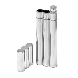 Double Cigar Holder & Flask Combo With Engraving