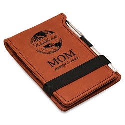 Image World's Best Mom Rawhide Leatherette Notepad and Pen