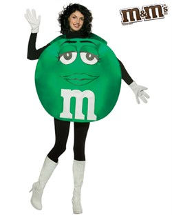 Adult Green M&M'S Character Poncho Costume