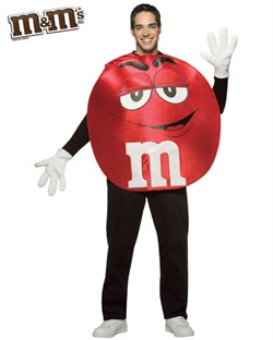 Adult Red M&M'S Character Poncho Costume