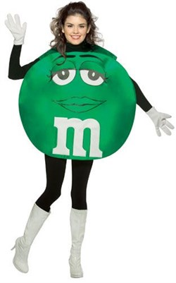 Teen Green M&M'S Character Poncho Costume