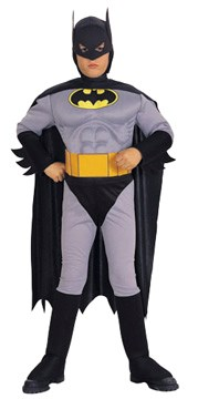Child Deluxe Batman Costume - Muscle Chest