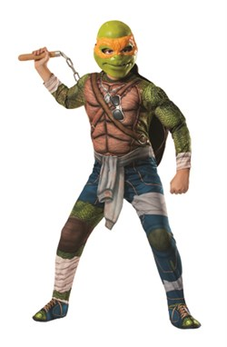 Kids Deluxe Ninja Turtles Michelangelo Costume