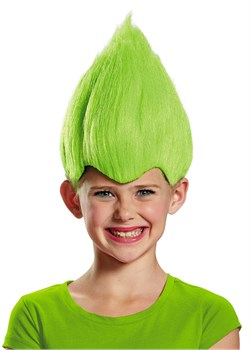 Kids Green Troll Wig