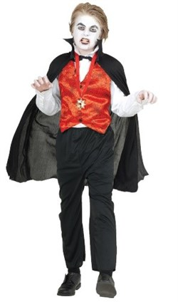 Kids Vampire Red Vest and Cape
