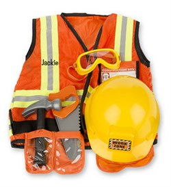 Personalized Construction Worker Costume Set