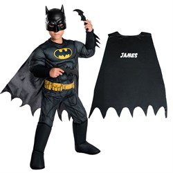 Personalized Kids Batman Costume