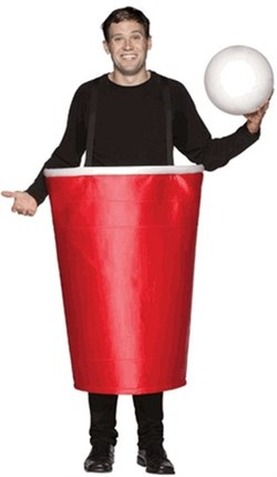 Adult Big Red Cup Costume 6029