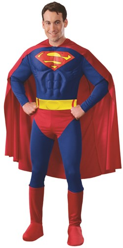 Adult Deluxe Superman Muscle Chest Costume 888016