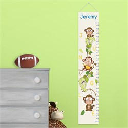 Personalized Butterflies and Blooms Growth Chart GC925