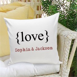 Personalized Pillow - Typeset Love GC1107
