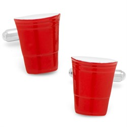 Red Party Cup Cufflinks CC-RSC-SL