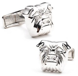 Sterling Bulldog Cufflinks RR-210